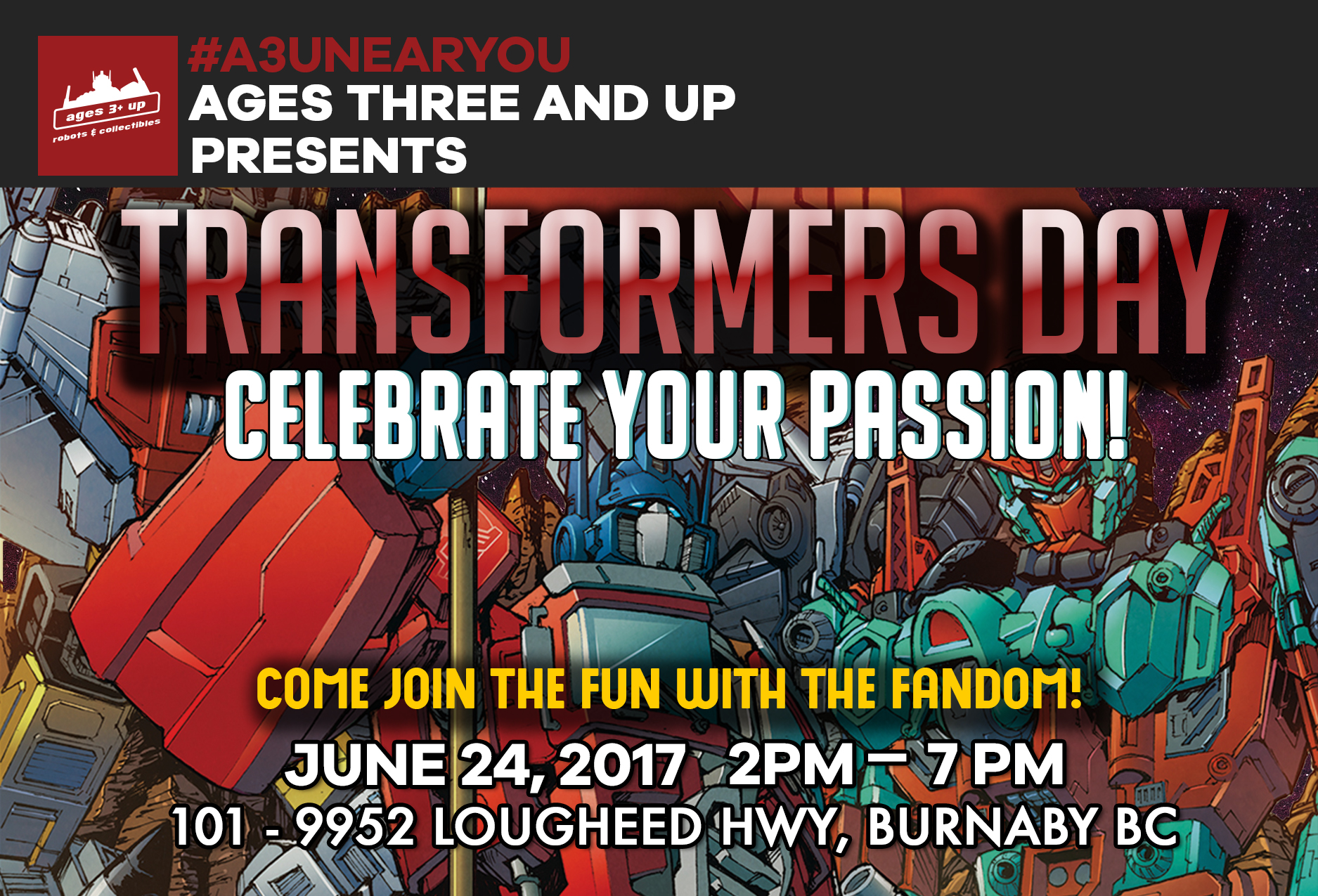 Ages Three And Up Presents: Transformers Day!